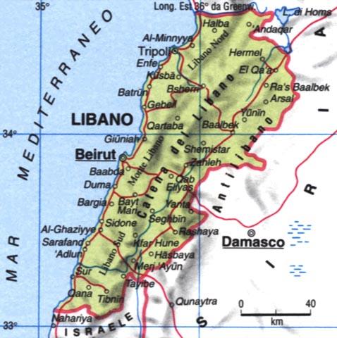 Cartina Del Libano.Geografia Territorio Storia Economia Letteratura Arte Del Libano