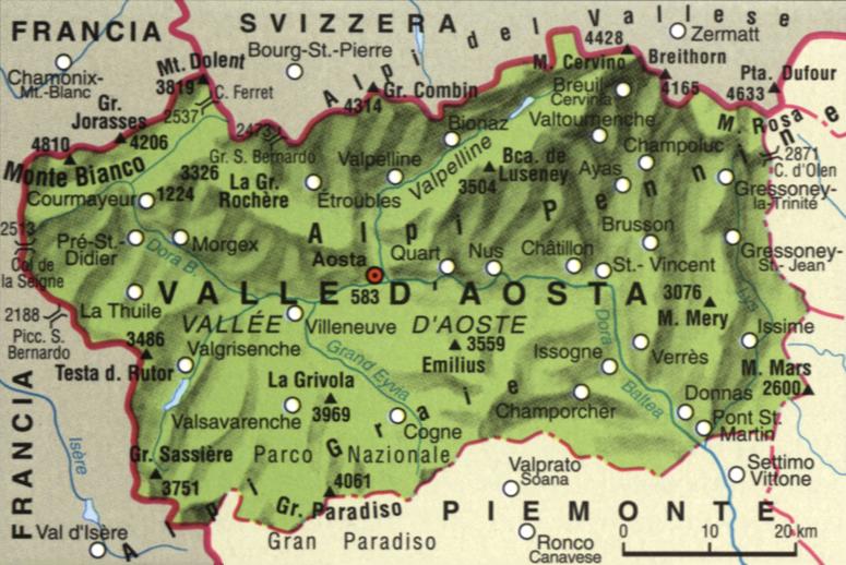 Valle D Aosta Cartina Politica.Fia Italia Territorio Storia Economia Della Valle D Aosta Geogra