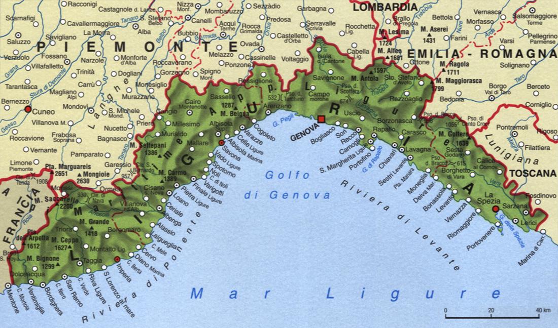 Liguria Di Levante Cartina.Territorio Storia Economia Della Liguria