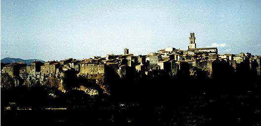 Panorama di Pitigliano (Grosseto)