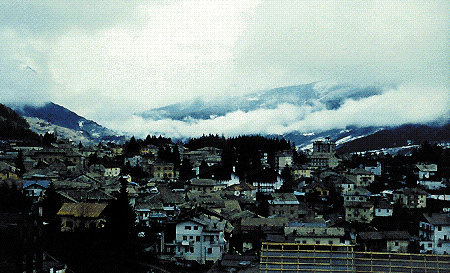 Panorama di Cavalese (Trento)