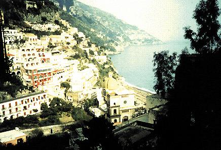 Panorama di Positano (Salerno)
