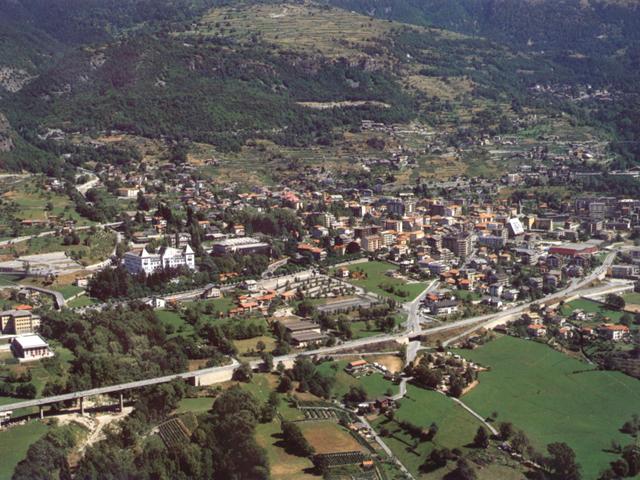 Panorama della conca di Saint-Vincent