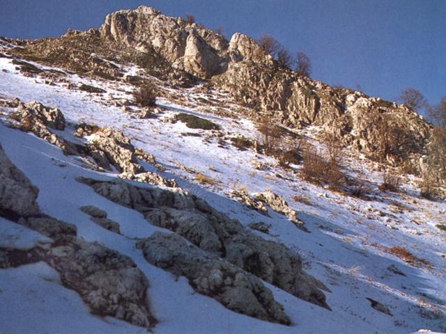 Pescasseroli: rocce in Val di Rose (Parco Nazionale d'Abruzzo)