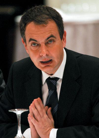 Il primo ministro spagnolo José Luis Rodriguez Zapatero