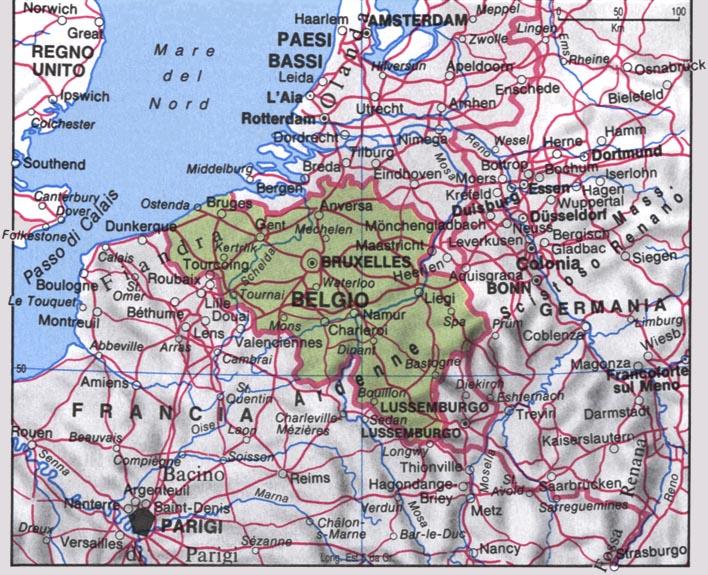 Cartina del Belgio