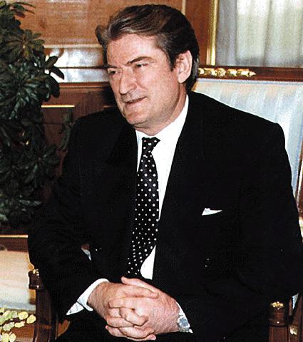 L'ex presidente albanese Sali Berisha
