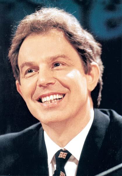 Un primo piano di Tony Blair