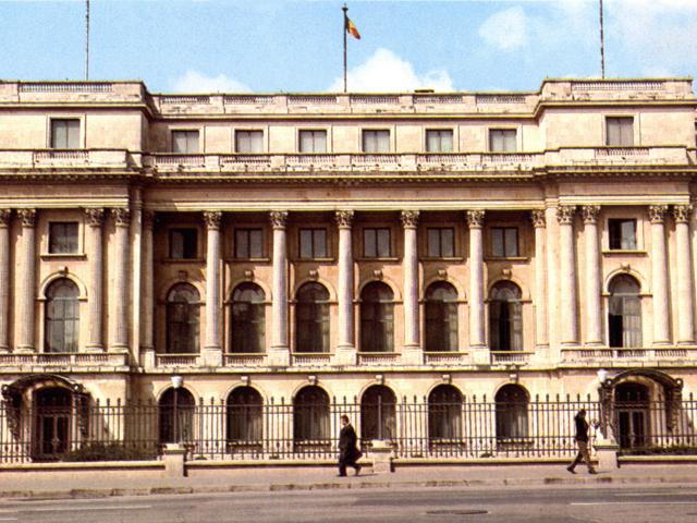 Il palazzo governativo a Bucarest