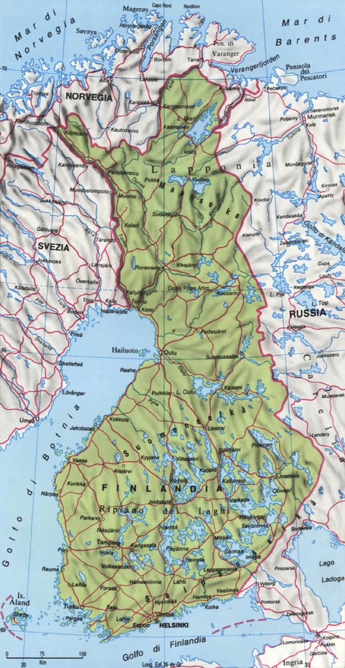 CArtina della Finlandia
