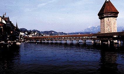 Lucerna: il ponte di legno