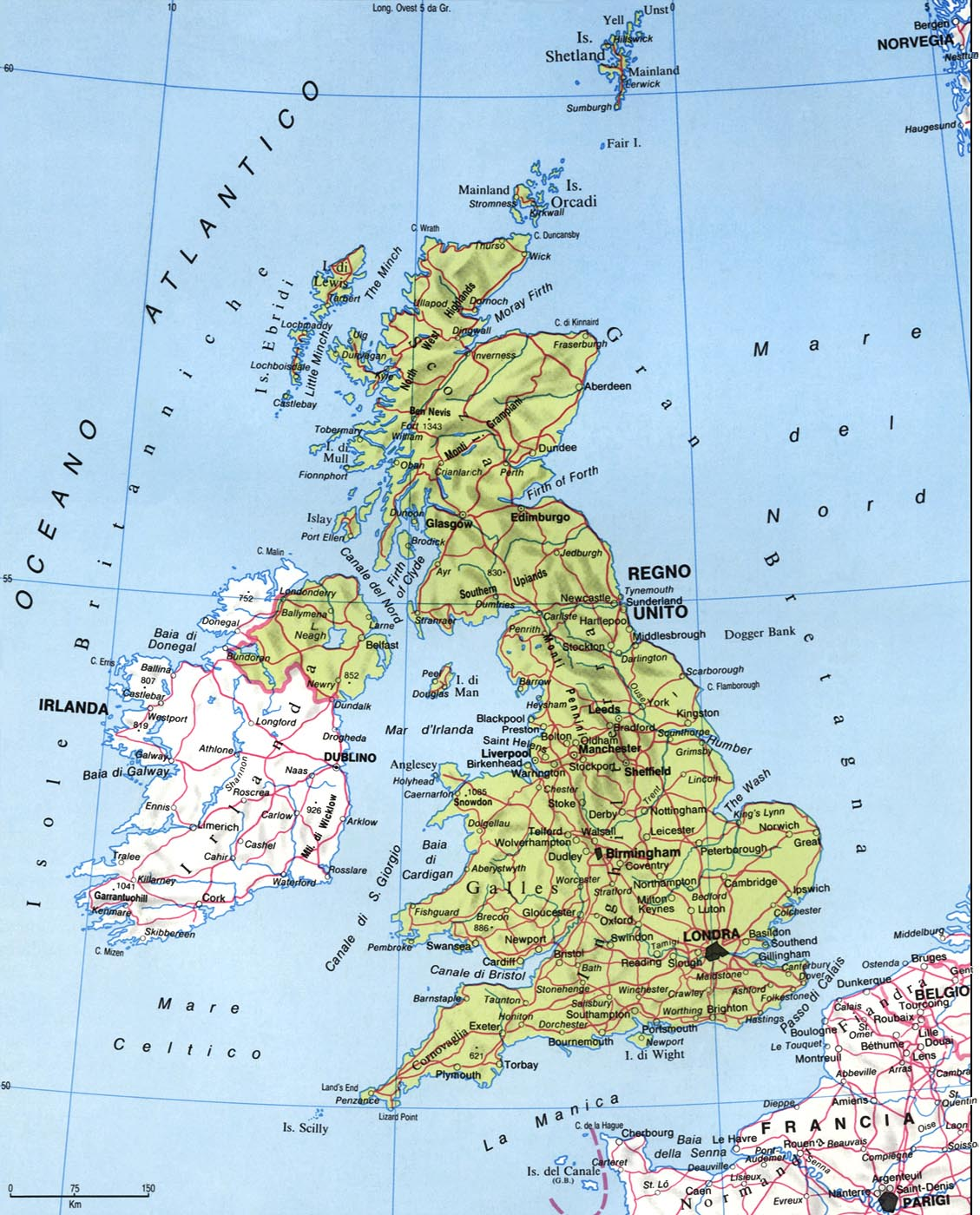Cartina Geografica Gran Bretagna E Irlanda.Europa Territorio Storia Economia Regno Unito Di Gran Bretagna E Irlanda Del Nord