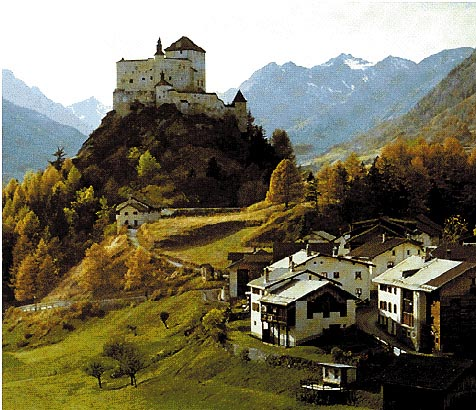 Panorama della valle Engadina