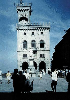 San Marino: il palazzo del Governo