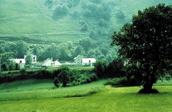 Panorama dei Pirenei (versante francese)