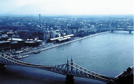 Scorcio del Danubio a Budapest