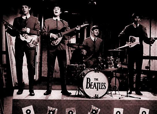 Una storica immagine dei Beatles