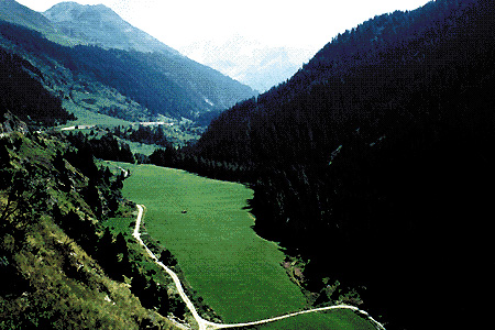 Svizzera: panorama del cantone Vallese