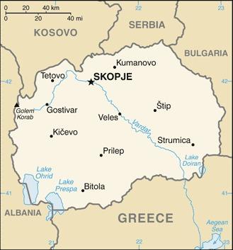 Cartina della Macedonia