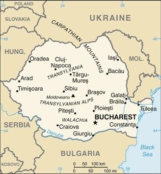 Cartina della Romania