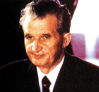 Un primo piano di Nicolae Ceausescu