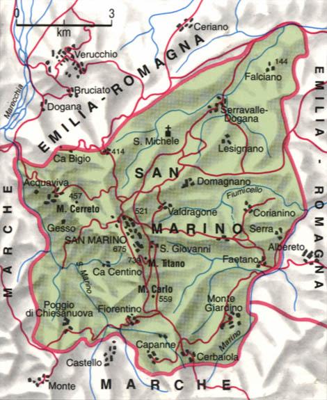 Cartina di San Marino