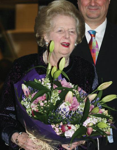 Margaret Thatcher il giorno del suo 80° compleanno