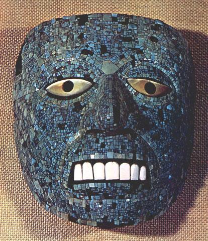 Maschera azteca di Quetzalcòatl (Londra, British Museum)