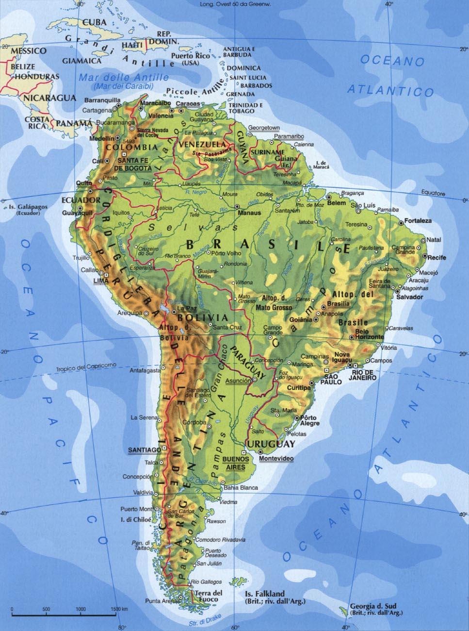 America Del Sud Cartina Politica.A Del Sud Territorio Storia Economia Americ
