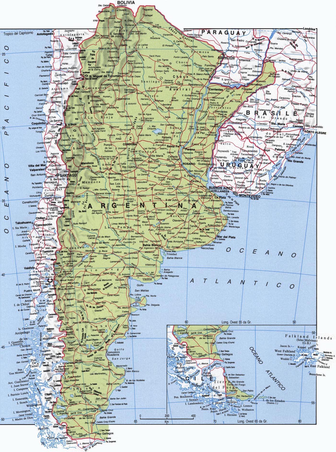CArtina dell'Argentina