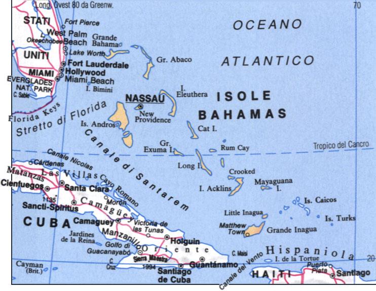 CArtina delle Bahamas