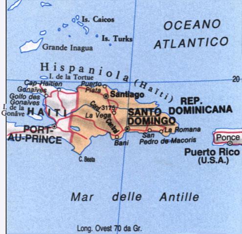 Cartina della Repubblica Dominicana