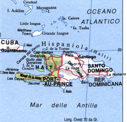 Cartina di Haiti