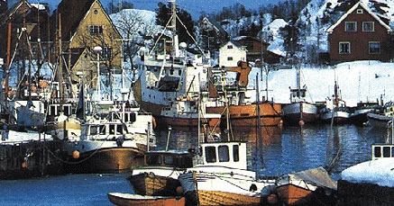 Il piccolo porto del villaggio di Kap Dan (Groenlandia)