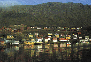 Villaggio sui fiordi nella Lapponia norvegese