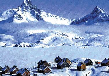 Il villaggio di Angmagssalik, in Groenlandia