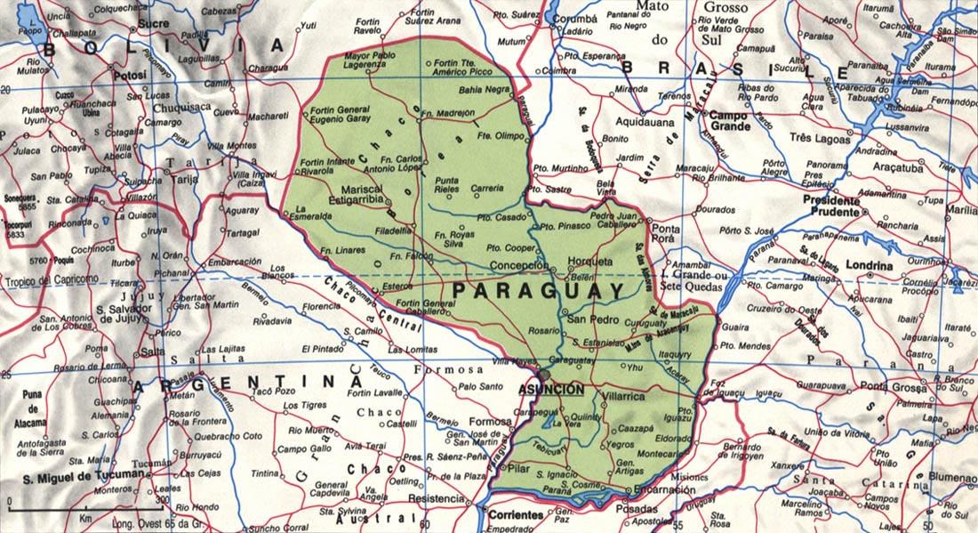 Cartina del Paraguay