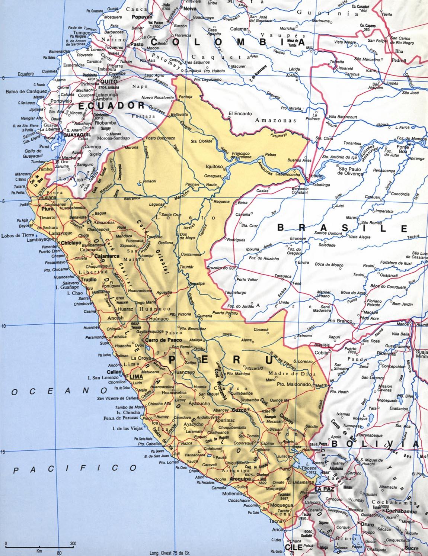 Cartina del Perù