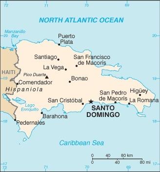 Repubblica Dominicana Mappa