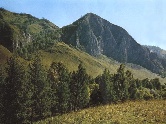 Paesaggio degli Altaj nella regione di Gorno Altajsk (Siberia)
