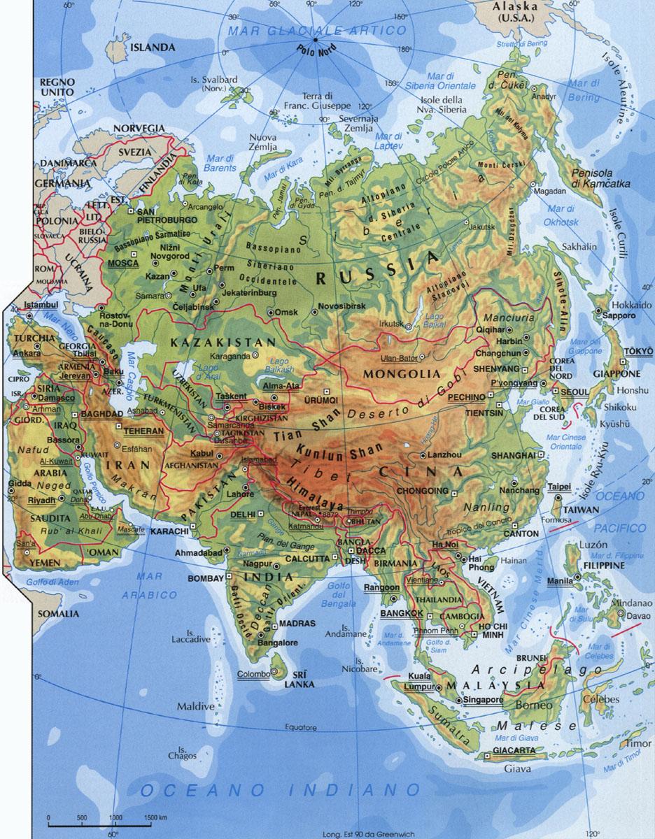 CArtina dell'Asia