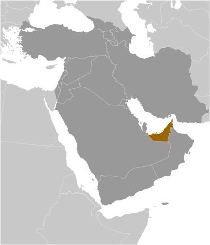 Cartina degli Emirati Arabi Uniti