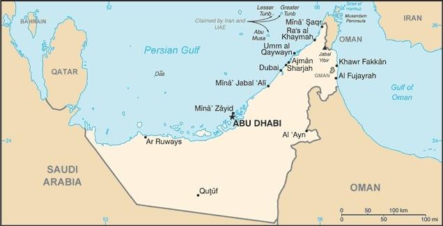 Mappa UAE