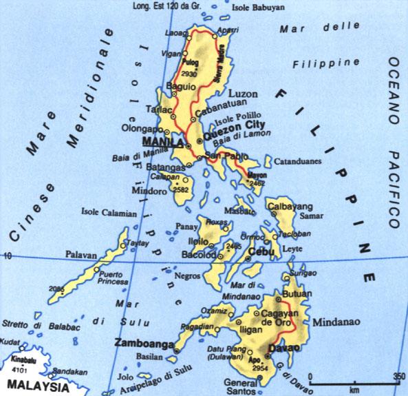 Cartina delle Filippine