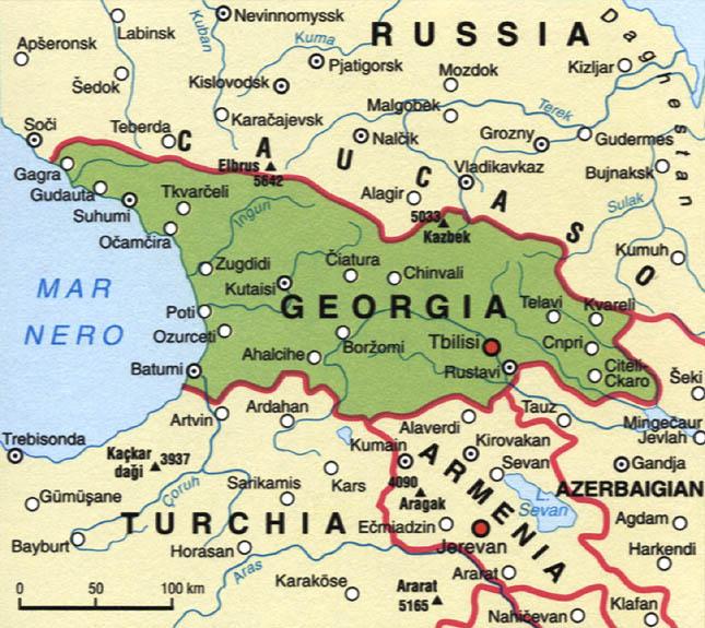Cartina della Georgia
