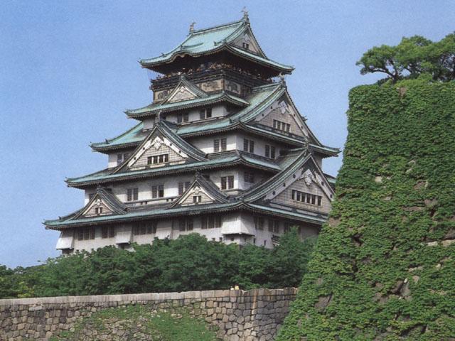 Il castello di Osaka, in Giappone