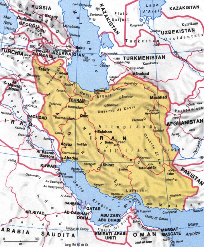 Cartina dell'Iran