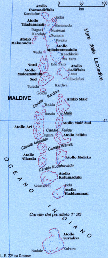 CArtina delle Maldive