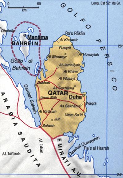 Cartina del Qatar
