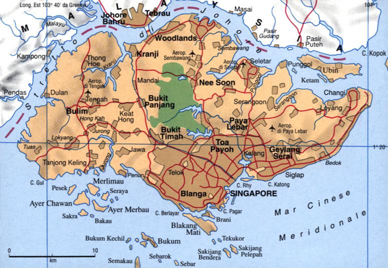 Cartina di Singapore